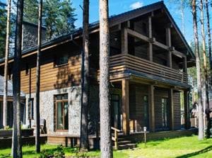 Загородный дом в стиле альпийского шале, посёлке Белоостров