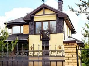 Двухэтажный дом в современном стиле в городе Павловск