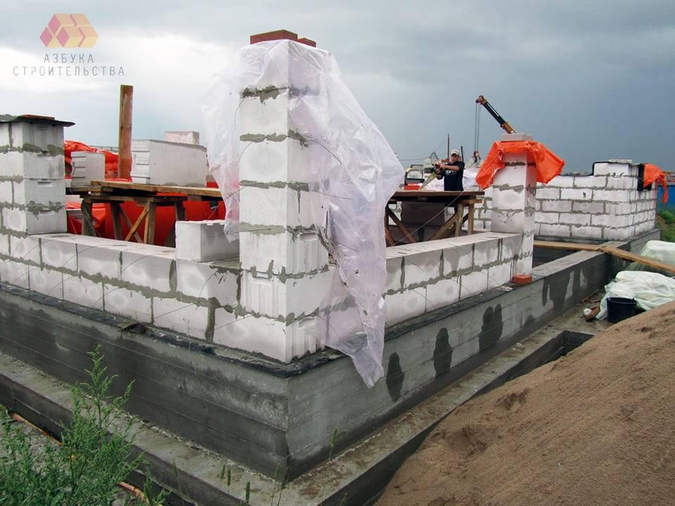 Строим дом из газоблока своими руками 56