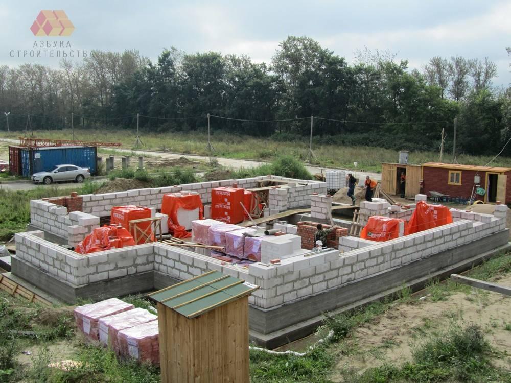 Дачное строительство из газобетона своими руками