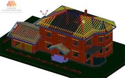Модель дома по существующему проекту