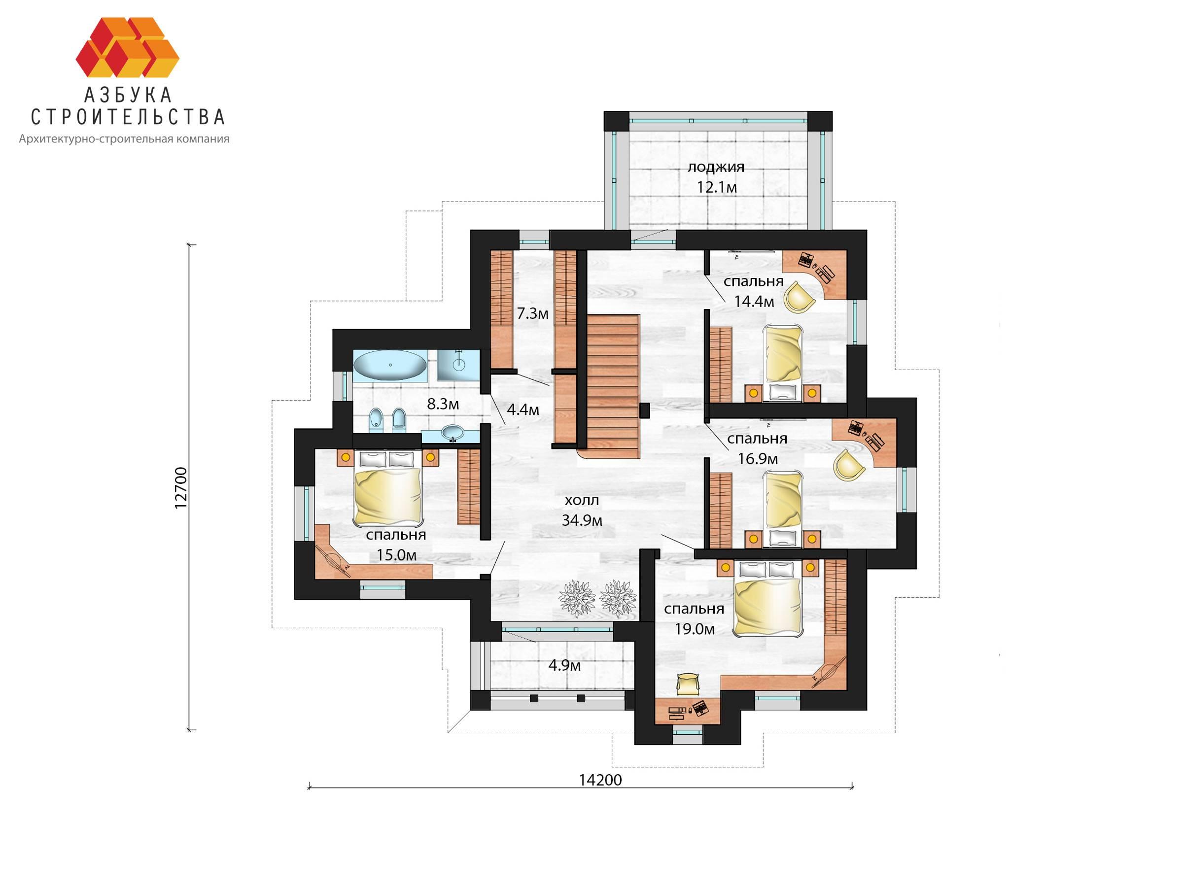 План 2 этажа проекта Г-АБ-298