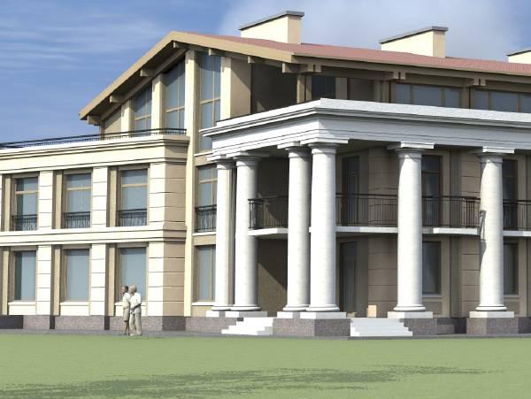 Проект клубного дома (г. Павловск)