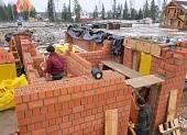 В качестве материала стен используется поризованный камень RAUF